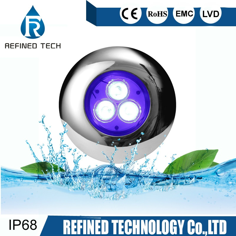 RGB 316L SS Resin filled Wall Mounted LED Pool Light